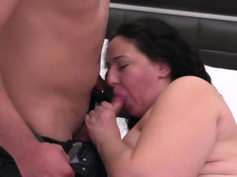 Fat and hot mature gets fucked hard by a young guy