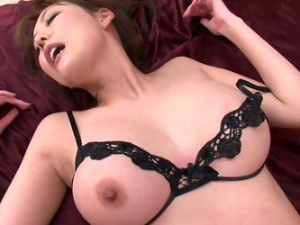 Lustful bitch Akari is indeed talented porn actress. She is able to perform hardcore double penetration action on a high level. So she works her both