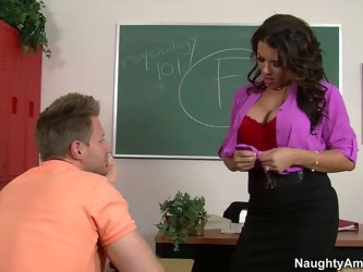 During an advanced training horny young dude imagines a strict professor in a role of porn star. He seduces by passionate mauling of her curvy body be