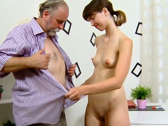 Wanton old man pleased that dirty leggy sweetie with nice cunnilingus and got his dick sucked ardently afterwards. Enjoy that dirty oral sex in 1 Pass