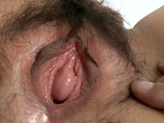Horn made Japanese milf in steamy black lingerie and stockings gets her bearded vagina fingered by perverse fucker before he starts tickling it with m