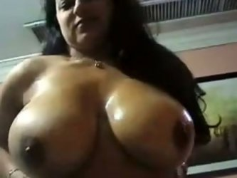She is eager to have sex on cam today. My voluptuous and sexy Indian milf wife with huge breasts sucked my cock and rode me on top.