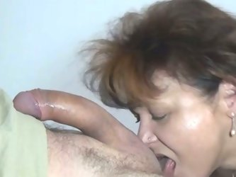 Thirsting mature chick with fat ass pleased her husband with stout BJ to ride his long penis in face to face position a bit. Look at that steamy sex i