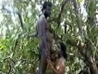 A couple was taped having sex somewhere in tribal village, chubby girl sucks her partner's cock and gets her pussy licked while she's sittin