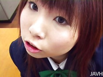 This cute young Japanese schoolgirl is about to know, what it feels like to have sex. The teacher fingers her cunt and then, she wraps her fingers aro