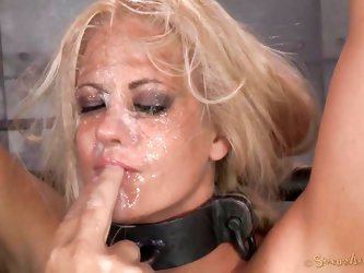 "Sucking cocks is what this hot blonde whore loves to do most. This time she will get what she craves for. She got tied up by an ""executor"