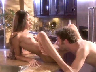 Alexis Love Takes A Big Cock From Behind Up Against The Kitchen Counter