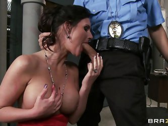 Sexy mature babe Phoenix is caught and placed in a custody of a hungry young cock! But the milf with a sexy stockings do better than that. And when th