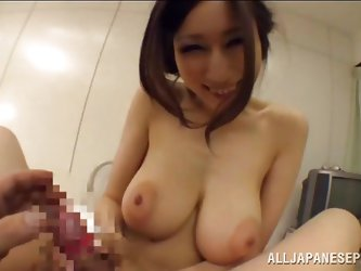 The best part of my vacation in Tokyo was a asian slut with these huge breasts. After i picked her up we went back to my hotel room where she started