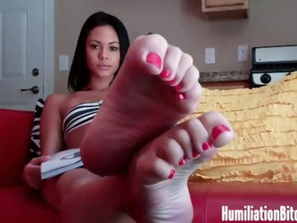 Danica Logan shows off her feet