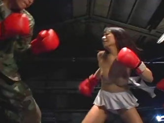 Japan Female Investigator Underground Boxing