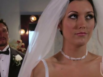 There must be special orders that push horny brides to fuck their future husbands in the church. Dylan Ryder fucks her bridegroom before the engagemen