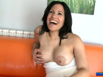 Bitches brown nipples turns me on. Yes, her tits are saggy, but she is still very hot. Mature milf takes off her panties and blows huge long cock.