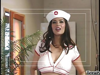 Where there's a hard cock in need of some very special medical attention nurse Tera is there to help. She has her special treatment for hard cock