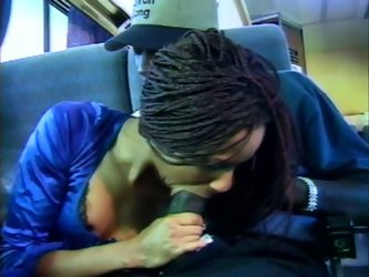 Slim black nympho with African braids travels by bus. This slutty chick has a fellow traveller black dude. Kinky chick bows above the strong black coc