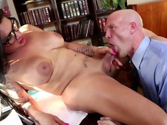 Serious boss is tired of work and very bored. He hires an extravagant secretary who can cheer him up. She turns out to be a shemale. Bald guy gladly s