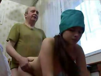 Oversexed Young Nurse Goes Down On Her Old Patient And Lets