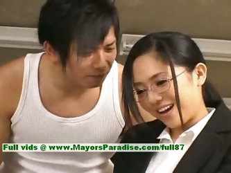 Sora Aoi innocent naughty asian secretary enjoys getting