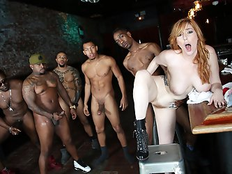 Lauren Phillips Interracial Gangbang