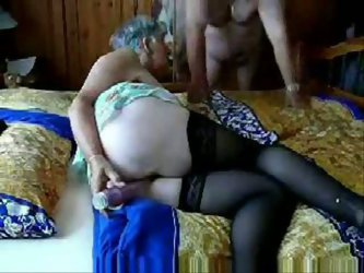 My fat mature husband is not easy as any other grandpas. He still has stamina and likes to dildo my old twat and film us!