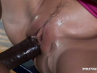 Interracial fucking at its best by Private studio! Well stacked blonde brick house Brianna Love gets her meaty soaking pussy licked before getting rai