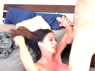 Lecherous stepmother chooses to stay home today and play dirty games that include blowjob and fucking with stepson who adores sniffing her underwear t