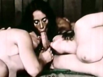 Dark haired shameless hootchie rests doggy way and her fuck holes are wild opened for harsh mouth loping and pussy drilling. Look at this disgusting o