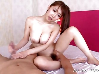 This Japanese slut is extremely horny, so she stand on the bend and makes her man lay beneath her. Watch as she sits on his face and makes the unlucky