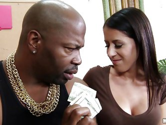 A big black guy is offering money to this milf Hailey Murphy, so she would fuck with him. Because Hailey is a slut and loves to fuck she takes it and