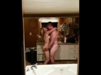 couple fucking in bathroom at party