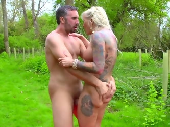 This blonde has a thing for outdoors sex, you probably know Jarushka Ross. This tattooed porn queen is also about smutty fun. Kieran's big pecker