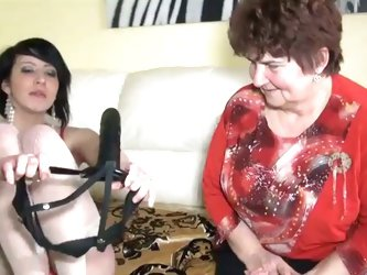 A very mature lesbian hooks up with a younger girl for some fun