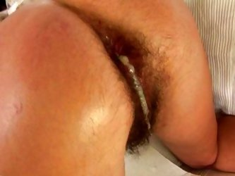 Hairy Anal Creampie