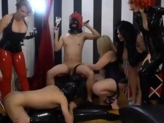 latex bi-sex femdom mistress party hardcore domination group sex