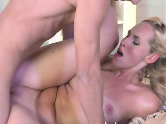 MOM Stunning MIlf sucks and fucks her younger stud dry