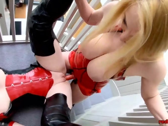 Big tit mature Red XXX gets fucked by her girlfriend