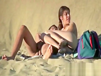 Voyeur Real Couple Nude On Secluded Beach Drilling public