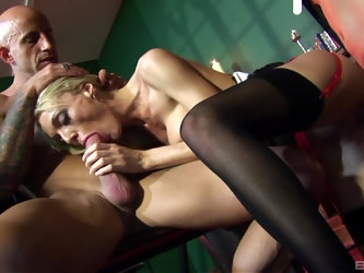 Blonde busty slut Antonia Deona pussy pounded in a hardcore orgy