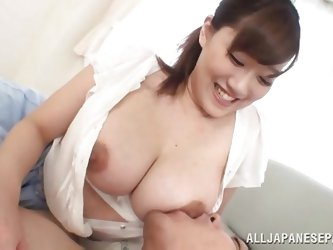 Rin likes to smile and to get her big jugs licked and sucked. She's one of those Japanese whores who offers herself with generosity and how can a