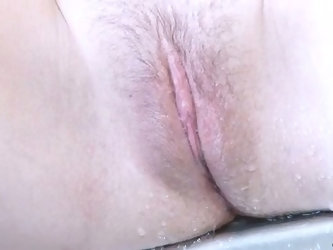 Lonely pale nympho Sadie plays with boobies and tickles wet slit