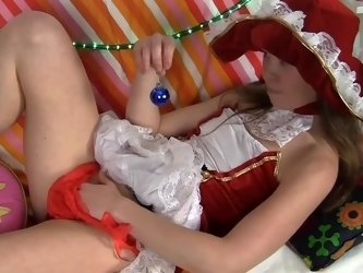 Little girl plays adult games with her favourite toy