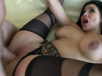 Drilling curvy lingerie girl Missy Martinez in her Latina pussy