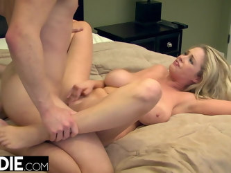 Blonde MILF Squirts On Big Cock