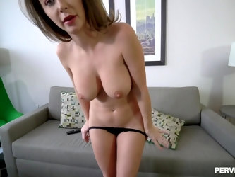 POV video where a large dick guy fucks mature hottie Emily Addison