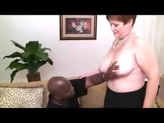 Chubby amateur redhead granny visits the casting couch and
