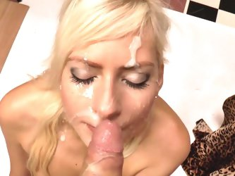 POV blowjob with appealing Lenny Elleny