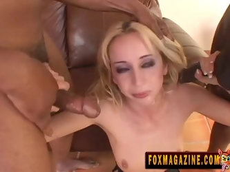 Kelly Wells attacked by a couple of men for an interracial threesome