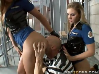 Horny Prison Guards Get Their Big Asses Banged