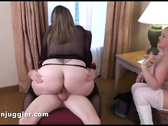 Hubby fucks his wifes friend & she watches