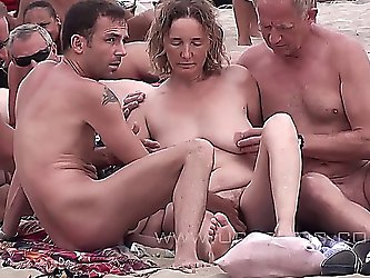 Mature Couples Fuck On A Nude-Beach